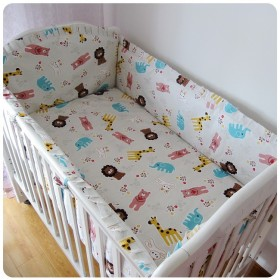 Promotion-6-7PCS-baby-cot-sets-baby-bed-bumper-Duvet-Cover-free-shipping-120-60-120