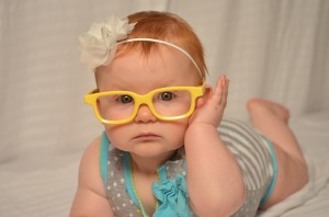 Cute Glasses Baby Kid Child Happy Infant
